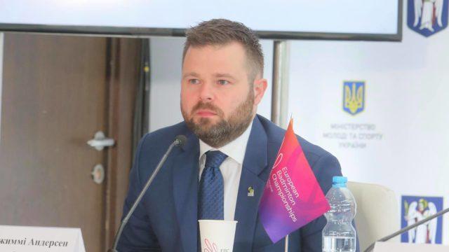 Джиммі Андерсен: В Києві пройдуть найбільші європейські поєдинки з бадмінтону