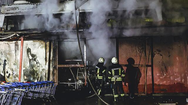 пожежа магазину у Києві