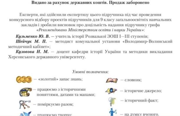 Історія України Струкевича: у двох підручниках знайшли карту без Криму