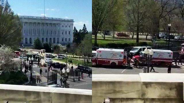 В США невідомий протаранив ворота Капітолію, троє поранених