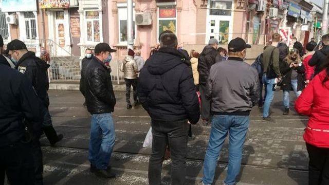 Мітинг проти карантину у Запоріжжі закінчився відкриттям справи