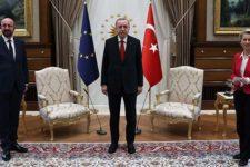 Софагейт: Урсулу фон дер Ляєн залишили без стільця на зустрічі з Ердоганом