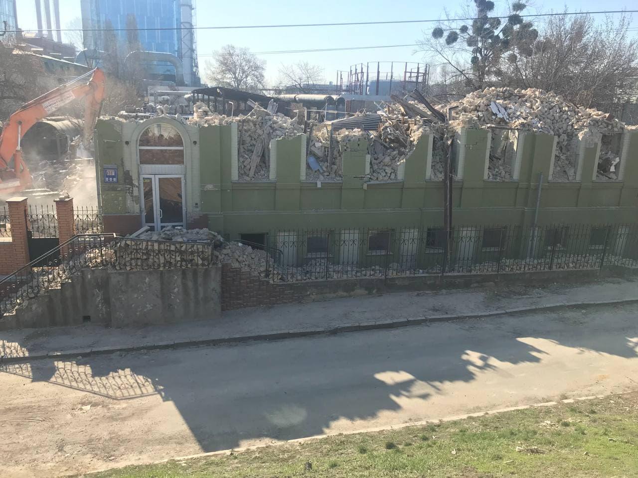 У Києві знесли 120-річний маєток купця Уткіна – ВІДЕО, ФОТО