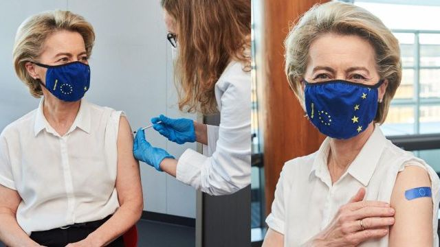 Глава Єврокомісії вакцинувалася від Covid-19