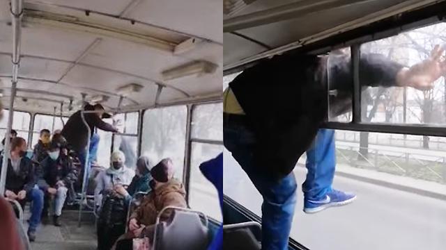 Тікав через вікно тролейбуса: у Черкасах пасажир без квитка вдарив кондукторку
