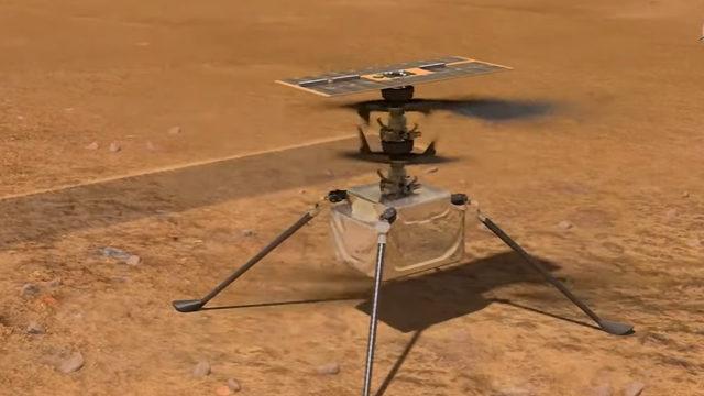 Три метра над уровнем Марса: видео первого полета дрона NASA