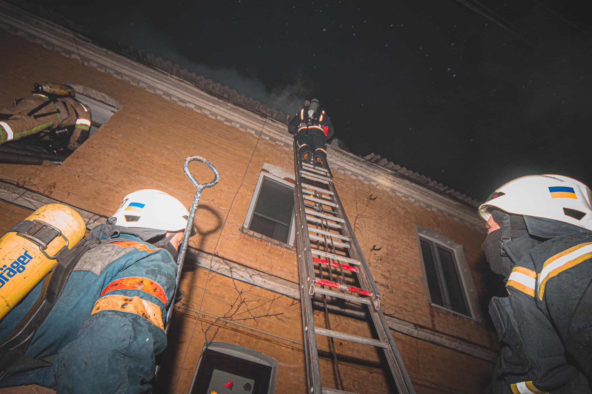 Пожежа в Голосіївському районі Києва