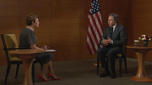 Мы осуждаем действия РФ: интервью Елены Фроляк с госсекретарем США Энтони Блинкеном