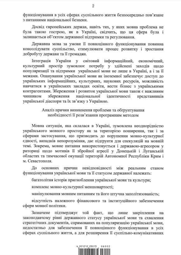 Уряд схвалив концепцію програми розвитку української мови до 2030 року — документ