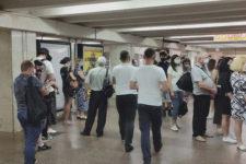 На станції метро Академмістечко технічний колапс – не працюють турнікети та каси