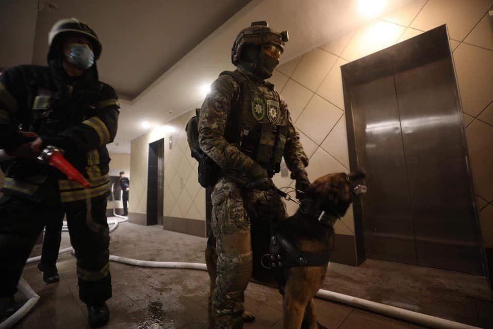 Підпал квартири на Голосіївському проспекті – з'явилося фото