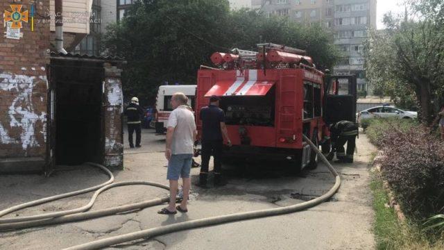 Пожар в Виннице: подробности пожара