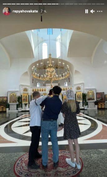 Павлик та Реп'яхова хрестили первістка