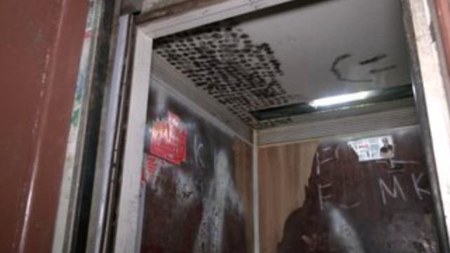 Несправний ліфт у Харкові