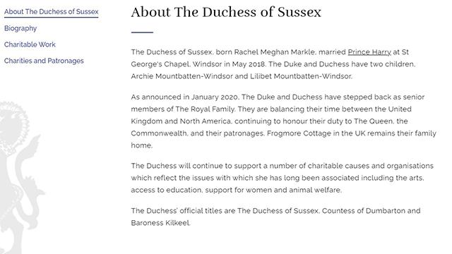 Дані про дочку Меган Маркл і принца Гаррі внесли на сайт королівської родини