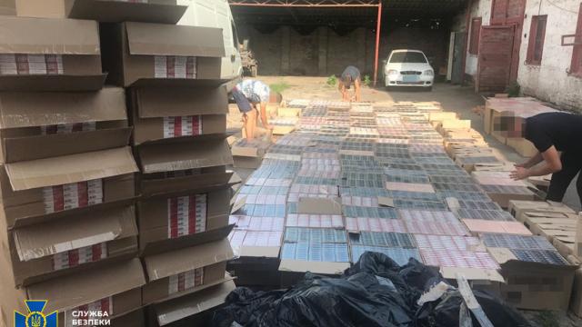 СБУ зупинила контрабанду цигарок вартістю понад $100 тис. з окупованого Донбасу