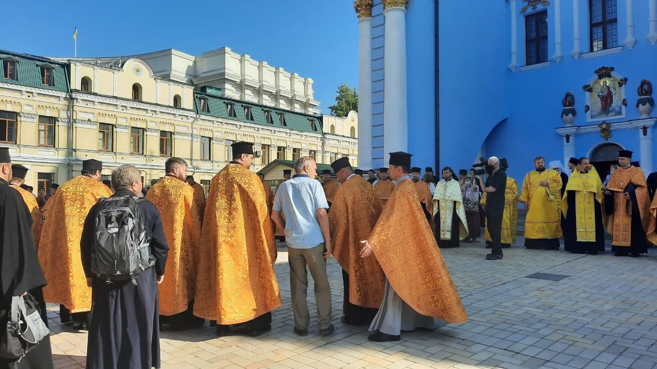 Патріарх Варфоломій відслужив подячний молебень у Михайлівському соборі