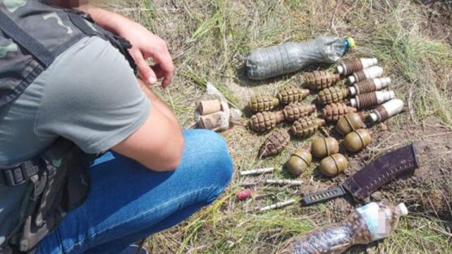 Схрон бойовиків на Луганщині